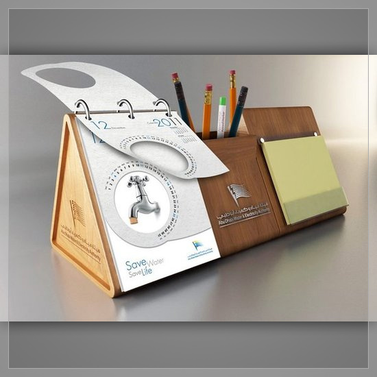 Creative Table Calendar Ideas : Creative inspirational printing calendar designs
